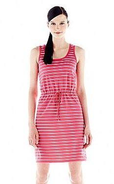 Joe Fresh Joe FreshTM Striped Tie-Waist Tank Dress