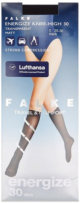 Falke Energize Black 30 Denier Knee-high Socks