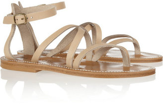 K Jacques St Tropez Epicure multi-strap leather sandals