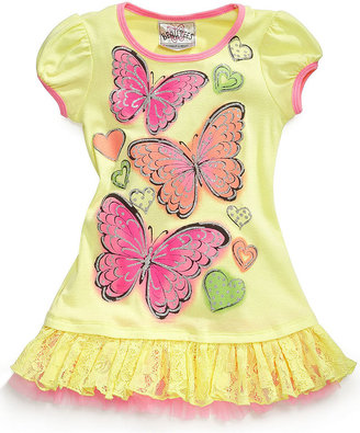Beautees Kids Shirt, Little Girls Graphic Tunic