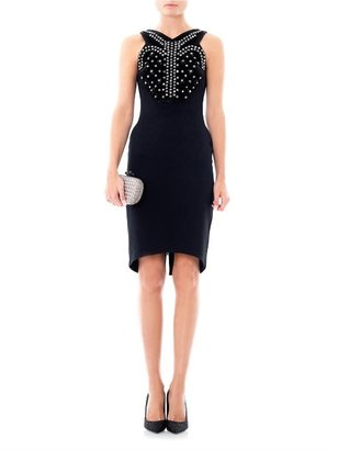 Antonio Berardi Crystal embellished crepe dress
