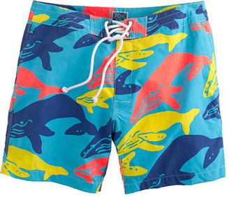 "J.Crew 7"" Board Shorts In Whale Print"