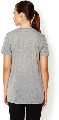 Heather Jersey Double Layered Pocket Tee