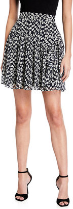 Milly Heidi Abstract Dot Burnout Mini Skirt