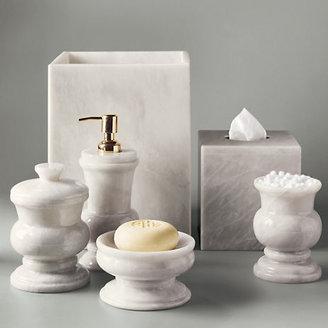 Gump's White Marbled Bath Accessories