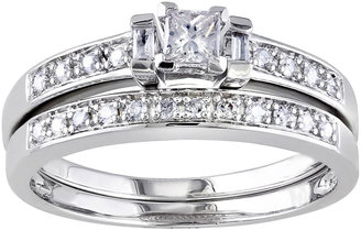 JCPenney MODERN BRIDE ? CT. T.W. Diamond Sterling Silver Bridal Ring Set