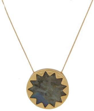 House Of Harlow Labradorite Sunburst Pendant Necklace