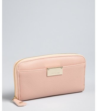 Jimmy Choo blush pebbled leather 'Rush' zip around continental wallet