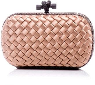 Bottega Veneta Woven satin box clutch
