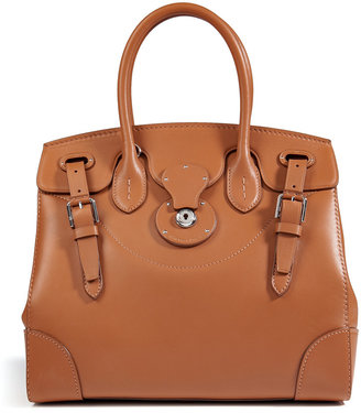 Ralph Lauren Leather Soft Ricky Tote in Gold