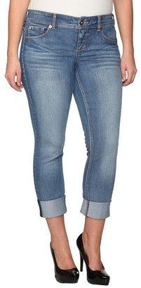 Torrid Denim - Light Blue Rolled Cuff Straight Jeans