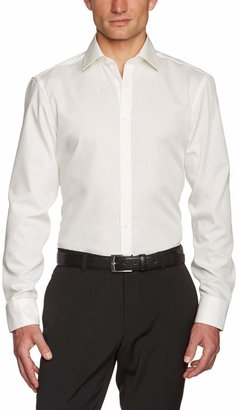 Venti Men's Classic Long - Regular Shirt - Beige - Beige (002 Champagner) - 42