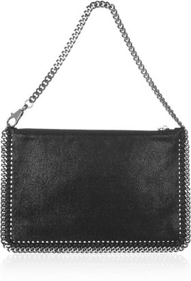 Stella McCartney The Falabella faux brushed-leather pouch