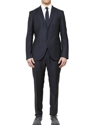 Tonello Faux Micro Check Compact Wool Suit