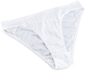 Hanro Cotton Seamless High-Cut Briefs, White