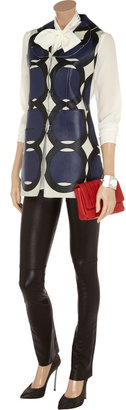 Marni Double-faced textured-leather vest