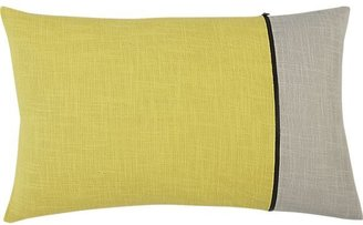"Crate & Barrel Zipper Yellow 20""x13"" Pillow"