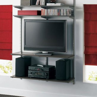 Container Store Entertainment Station Driftwood & Platinum