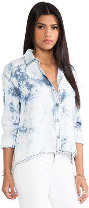 Michael Stars High Low Button Down Shirt