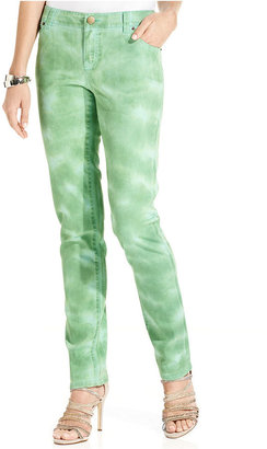 INC International Concepts Petite Jeans, Skinny Ankle-Length Tie-Dye
