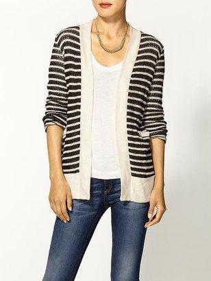 Splendid Panama Stripe Open Front Sweater