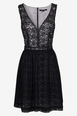 French Connection Glazed Lace Dress