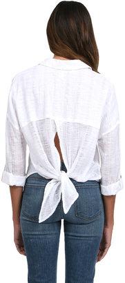 Free People Shibori Siten Buttondown in White