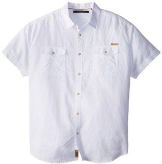 Sean John Men's Big-Tall Short Sleeve Solid Linen Shirt