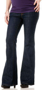 A Pea in the Pod Jeans Secret Fit Belly® 5 Pocket Fit And Flare Maternity Jeans