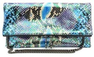 "Stella McCartney 311852"" Blue Snake Fold Over Clutch"