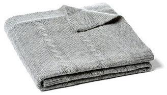 Minerva Cable Baby Blanket, Heather Gray