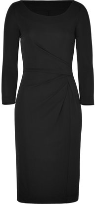 Philosophy di Alberta Ferretti Black Gathered Waist Dress
