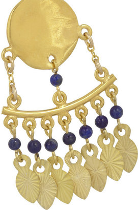 Chan Luu Gold-plated lapis lazuli earrings