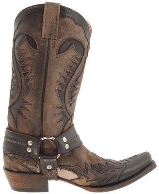 Stetson Snip Toe Harness W/ Bleach Boot Cowboy Boots