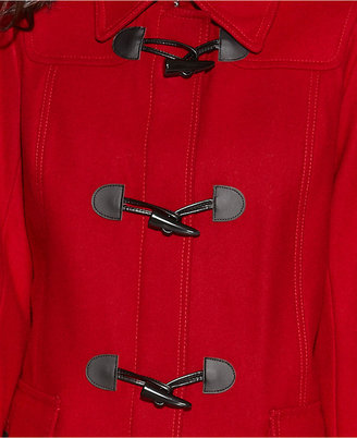 Tommy Hilfiger Hooded Faux-Fur-Trim Toggle-Front Duffle Coat
