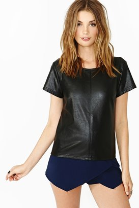 Nasty Gal Echo Tee - Black