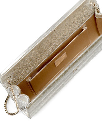 Jimmy Choo Sweetie Glittery Clutch Bag, Champagne