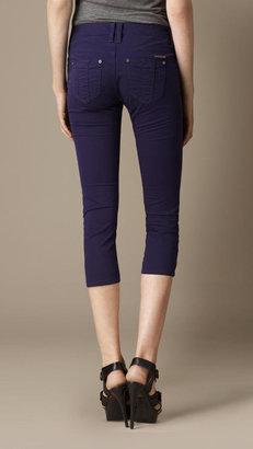 Burberry Buckingham Blue Skinny Fit Capri Jeans