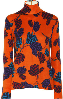Marc by Marc Jacobs Mareika Tulip printed cotton turtleneck top