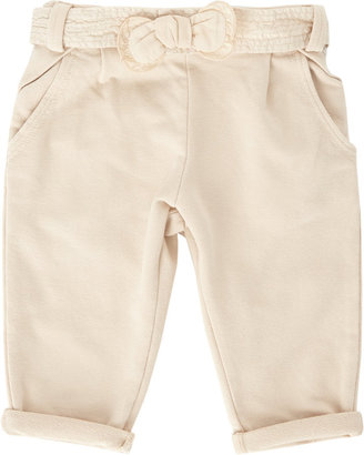 Chloé Pull Up Trousers With Percale Belt