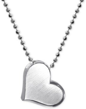 Alex Woo Little Princess by Heart Pendant Necklace in Sterling Silver