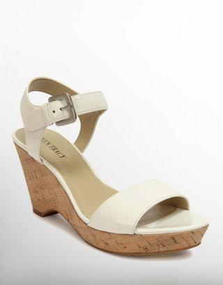 Ellen Tracy Patsy Cork Wedge Sandals
