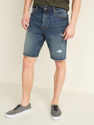 Old Navy Slim Built-In Flex Distressed Cut-Off Jean Shorts for Men -- 9-inch inseam