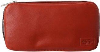 Jack Spade Mill Leather Zip Top Dopp NYRU1057 Travel Kit