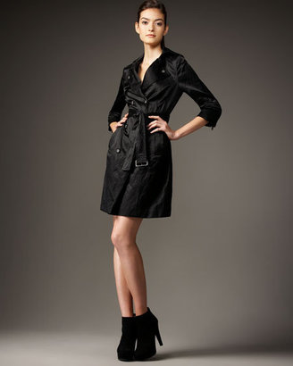 Juicy Couture Bird by Abby Satin Trench Coat