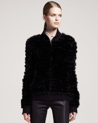 Theory Fur Zip-Up Jacket