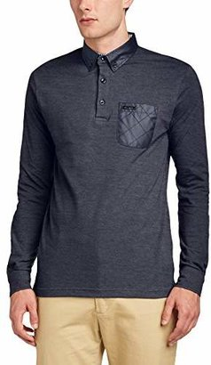 Voi Jeans Men's Density Button Front 3/4 Sleeve Polo Shirt