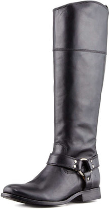 Frye Melissa Harness Riding Extended Calf Boot, Black
