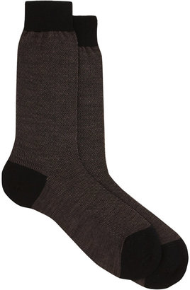 Barneys New York Micro Zigzag Sock