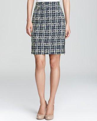 Milly Skirt - Tweed Side Zip Pencil